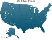 This is a map of where silver is mined in the U.S