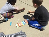 Chalk during outdoor explore time