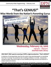 "1st/FINAL Posting - DPN ""That's GENIUS! Wise Words from the Nation's Parenting Gurus"""
