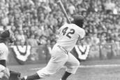 Robinson hitting a home run!