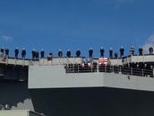 "Sailors ""man the rail"""