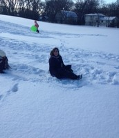 Our staff also enjoyed the new sledding hill, along with our students!