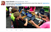 Mrs. Ricketts's Class Uses Google Email Accounts for Genius Hour Projects