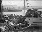 Men piled into ships to escape Dunkirk