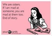Funny Quote about Sisters