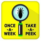 REMEMBER ONCE A WEEK ... TAKE A PEEK!