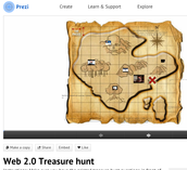3. Using Prezi and cloud storage to create an online treasure hunt