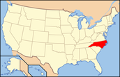 North Carolina on a Map