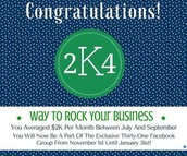Way To Go 2K4 Group Earner!