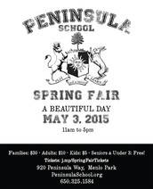 Join us for the Peninsula School Spring Fair!