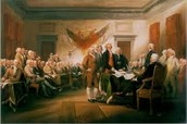 Benjamin Franklin Signing the Declaration of Independence