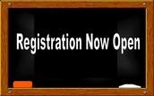 Registration for 2016-2017
