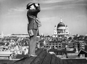 British Royal Observer corps scanning the sky