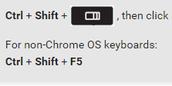 Partial screenshots on Chromebook