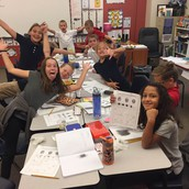 4th Grade groups working on science