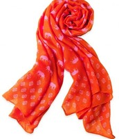 Pink & Orange Elephant Print Scarf