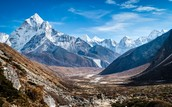 Himalayan Mountains in Asia