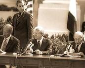 חתימת הסכם השלום בין ישראל ומצריים