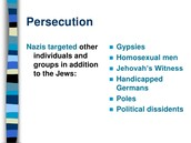 "Some of the ""Impure"" Groups of the Holocaust"