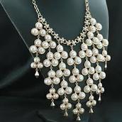 SOLD! Daliah Bib Necklace