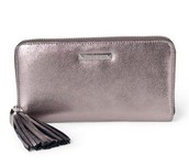 Metallic leather wallet - SOLD