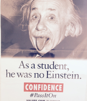 Einstein wasn't the BEST student.....