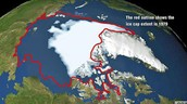 The Polar Ice cap is melting