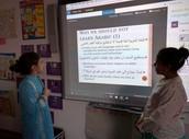 Jenna & Leena presenting their research!!
