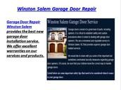 Winston Salem Garage Doors