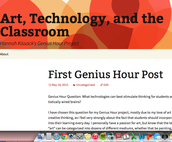 What I learned through Genius Hour