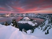 Crater Lake During a Sunset