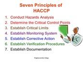 The Seven HACCP Principles