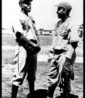 Jackie Robinson and Satchel Paige