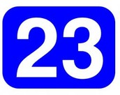 Mi numero favorita es veinte y tres.