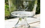 Live, Laugh, Eat Triffle bowl