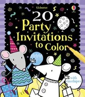 20 Party Invitations to Color