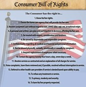 The consumer bill of rights