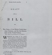 The First Draft of the act