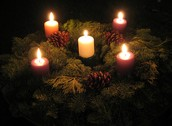 This is an Advent Wreath