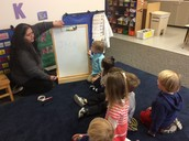 Learning our names at Circle Time