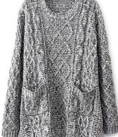 Tejer un suéter gris $28.50