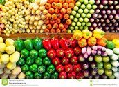 fruits and vegetables in the store