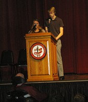 Emcees Makos and Daigle
