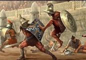 Gladiators fighting against the Romans