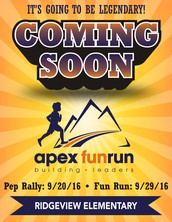 The Annual Apex Fun Run Event: September 20th to September 30th, 2016!