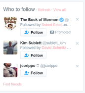 Who to follow and Find Friends