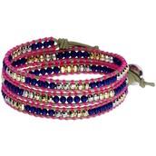 Wanderlust Triple Wrap Bracelet- Pink