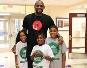 Lebron and some kids in Akron.