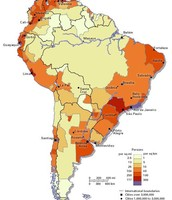 Population Map of South America