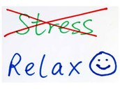 Try to sit back and relax for a few seconds and take a deep breath.